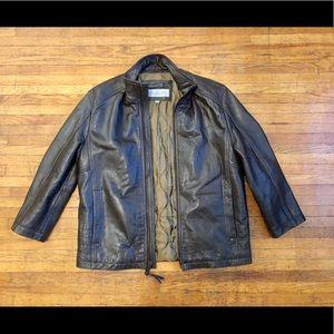Marc New York Dark Brown Genuine Leather Jacket, L